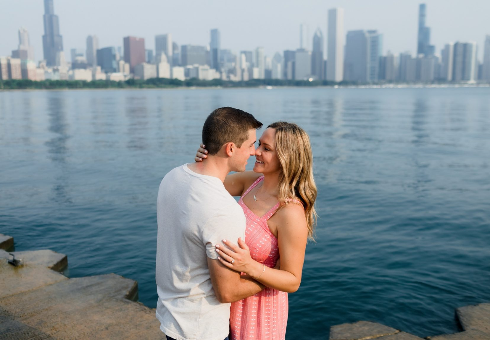 Chicago Skyline Sunrise Engagement Photos | Colleen and Alec